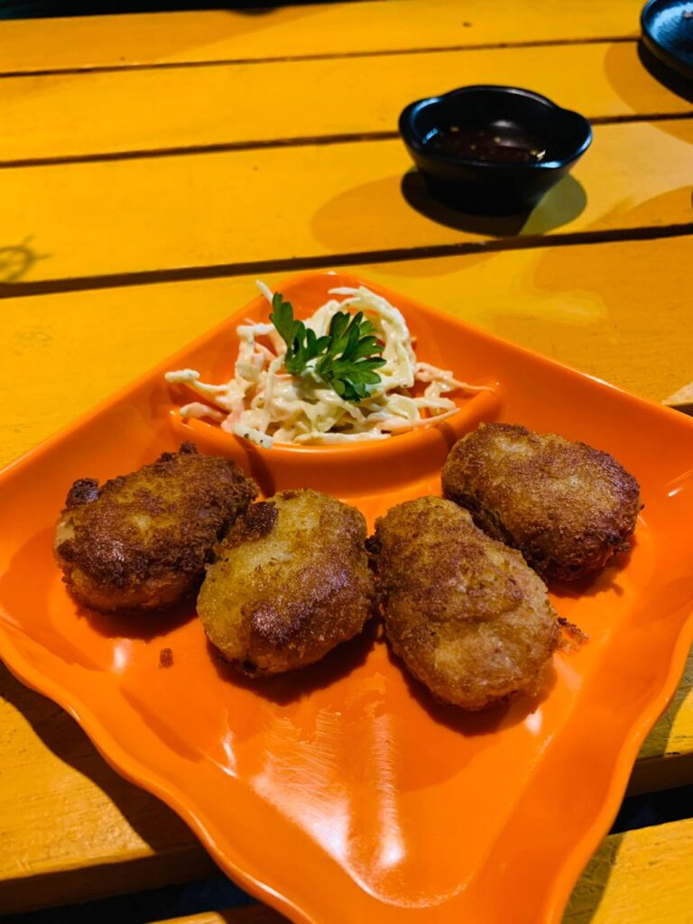 chicken nuggets at nickyms kitchen calangute