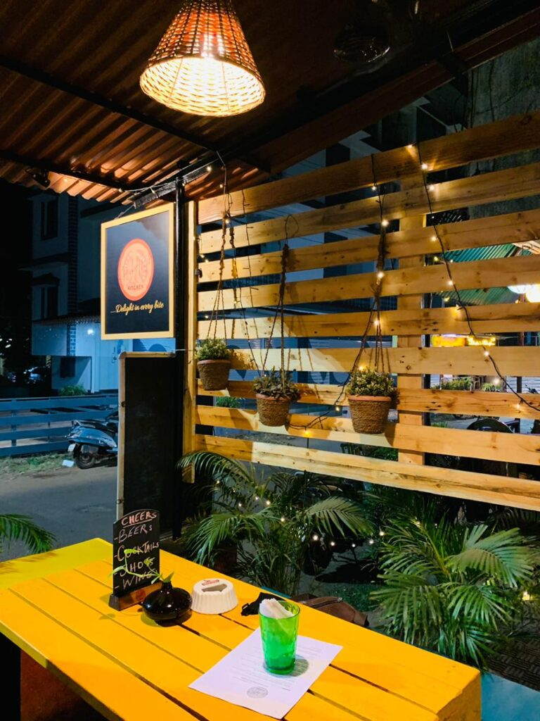 nickyms kitchen calangute outdoor seating