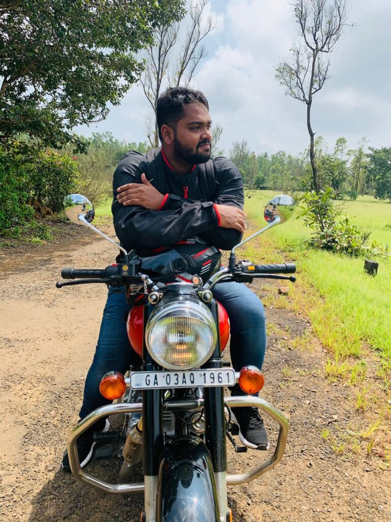 goan traveller on bike