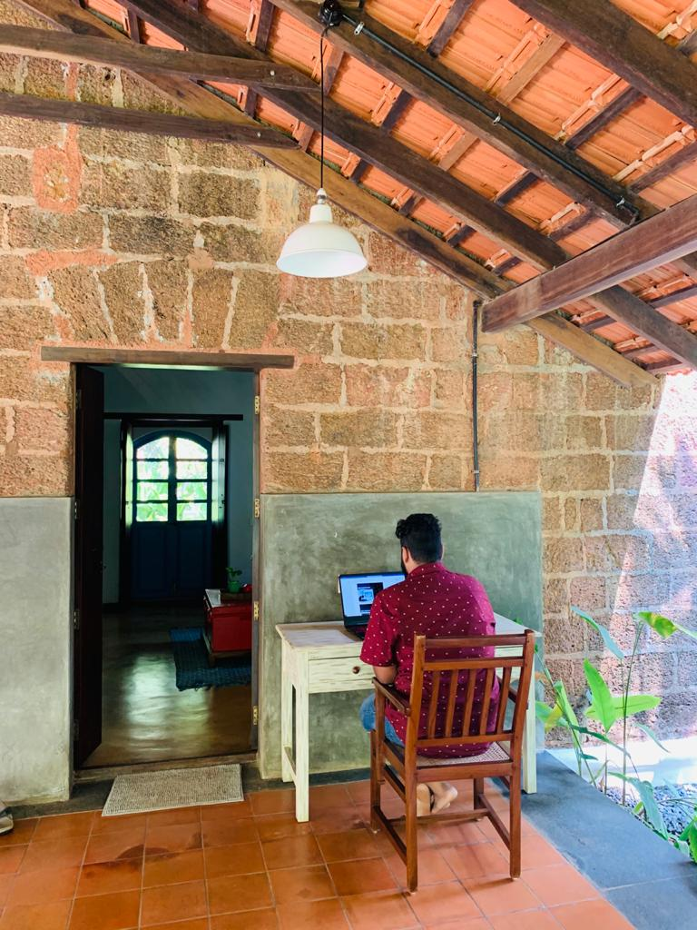 work from home at villa